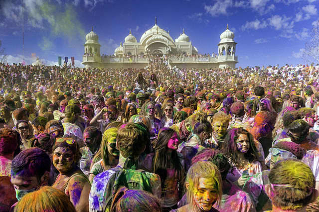 Hindus everywhere celebrate Holi, an annual festival of colors that marks the beginning of spring.