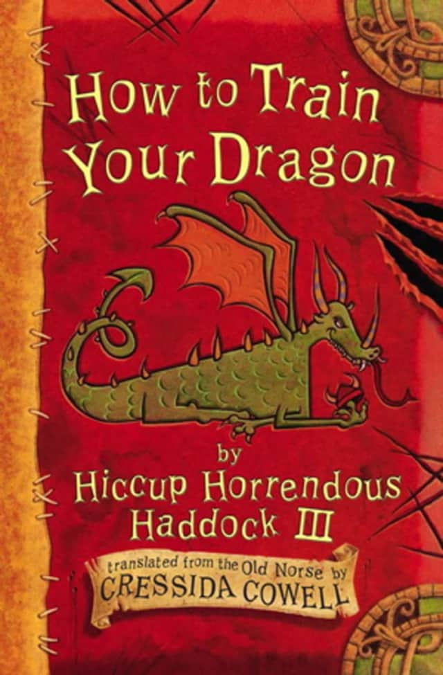 "Cover of the first edition of ""How to Train Your Dragon."" The film based on the book will be shown free in Bedford Hills."