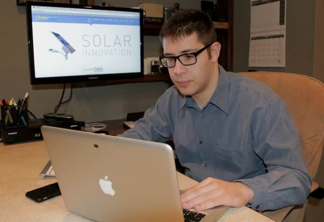 Glen Rock's Howard Spaeth, 25, owns and operates his own web design business.