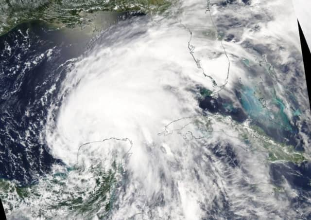 A visible image of Tropical Storm Cristobal on Friday, June 5 over the Gulf of Mexico and surrounding areas. New research suggests future storms that make landfall over eastern U.S. coasts may carry more intense rain totals per hour.