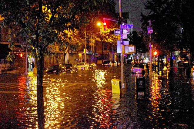 New York City, shown here after Hurricane Sandy, is one of the 10 top cities around the world most vulnerable to rising sea levels, Business Insider says.