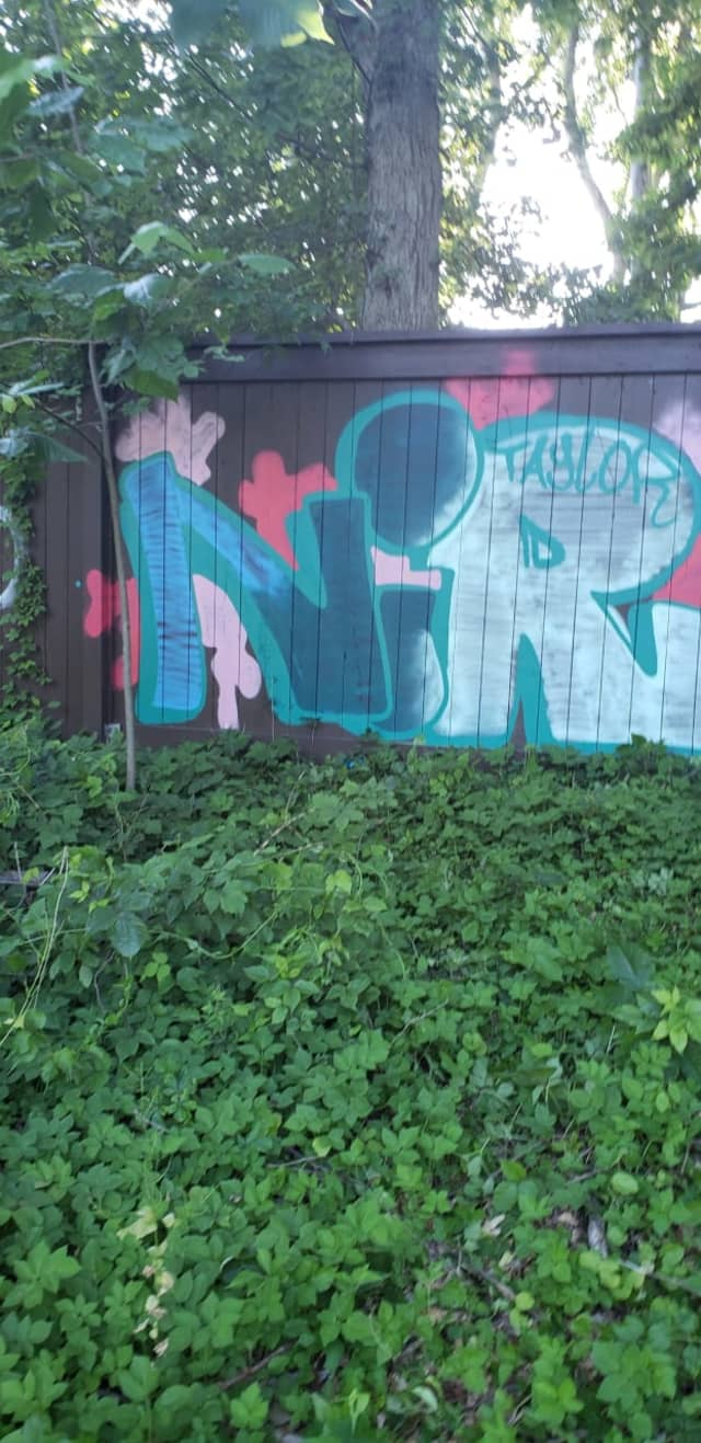 A man was arrested for allegedly spray-painting a fence on the Hutchinson River Parkway in White Plains.