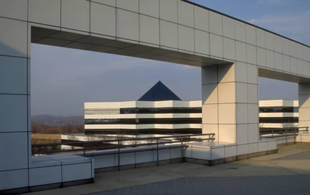 The pyramid-topped buildings at IBM's once bustling campus in Somers
