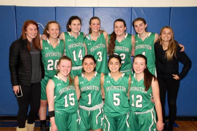 The Irvington High School girls basketball team moves on to the sectional Class B semifinals for the 10th consecutive year.