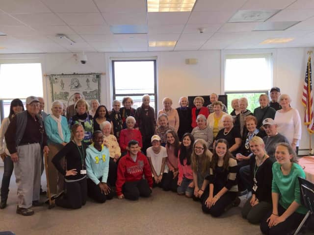 Members of Irvington High School's Key Club hosted nearly 30 local senior citizens for an afternoon tea earlier this month.