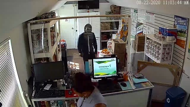 A man allegedly robbed a Suffolk County store of more than $2,600.