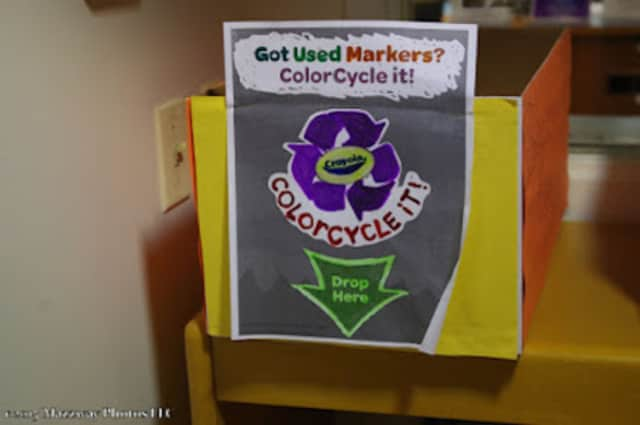 Crayola's ColorCycle program has arrived at the Bogota Public Library.