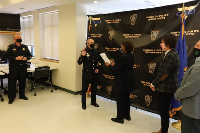 Three Norwalk officers received promotions.