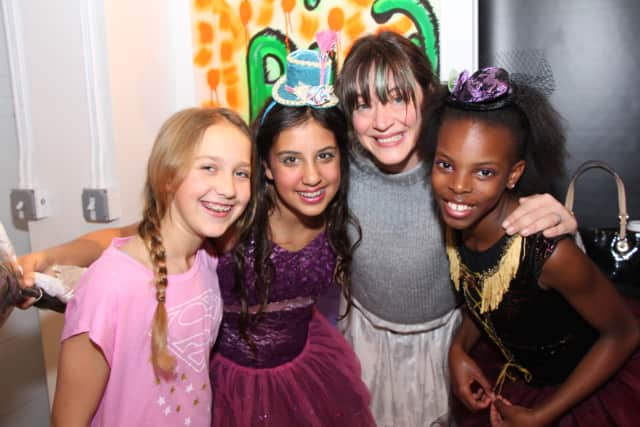 From a production of Cinderella, left to right: Ella Schnecker, Stella Brail, Jessica Irons, and Nyasha Nyoni.