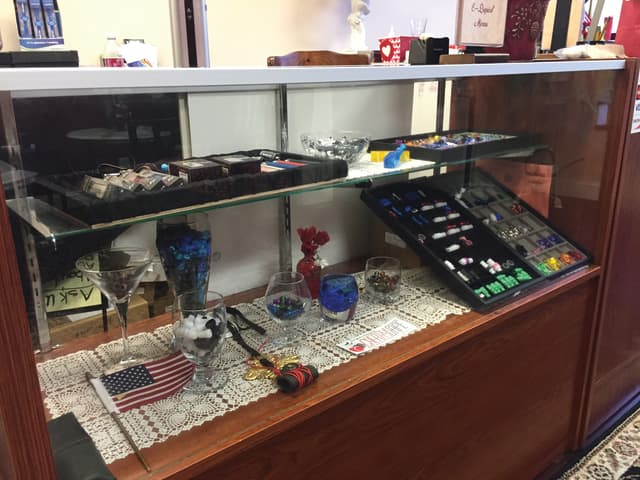 A case contains items for e-cigarettes.