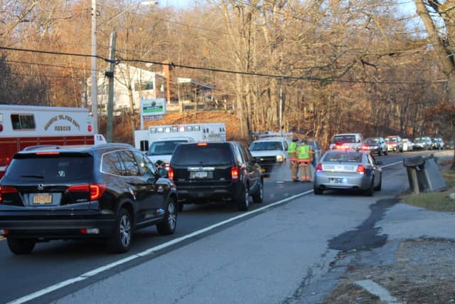 The Saturday afternoon crash snarled traffic on Route 6 in Mahopac near the Cargain Funeral Home.