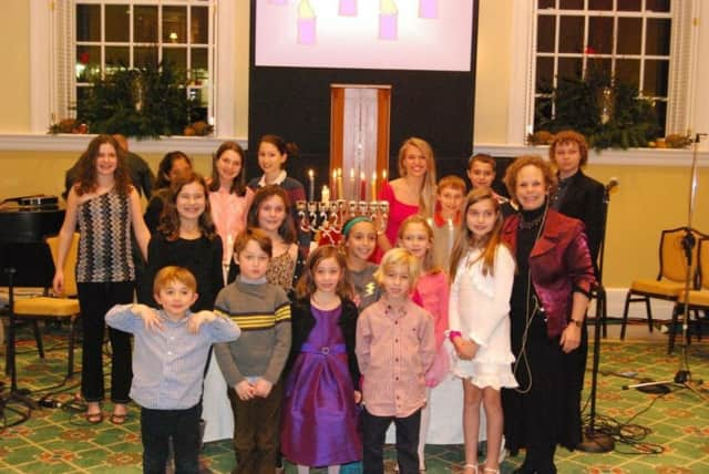 Children from Congregation Shir Ami enjoy Chanukah Live! last year.