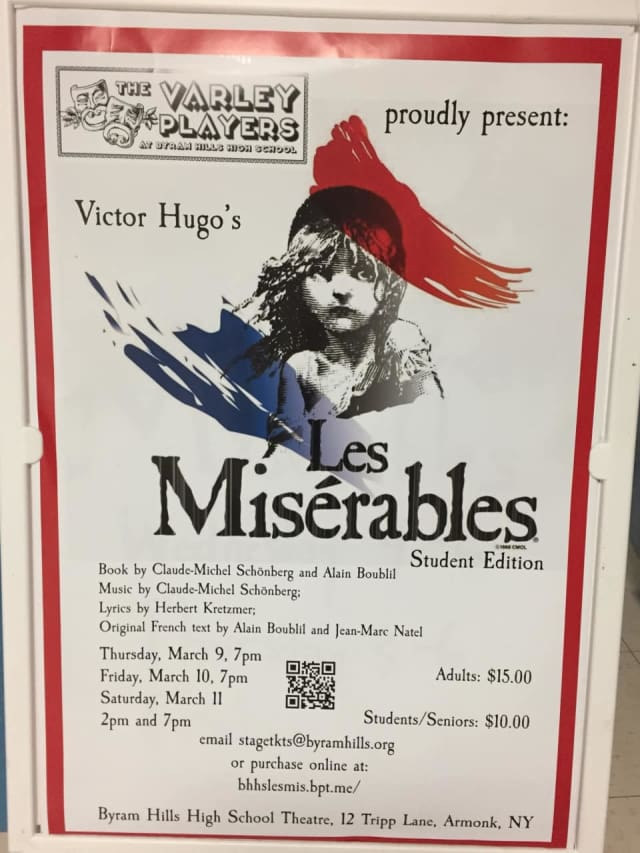 """Students at Byram Hills High School will perform in four renditions of """"Les Misérables."""""""