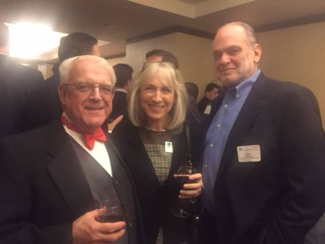 Paul Timpanelli, left, and guests at a Bridgeport Regional Business Council event.