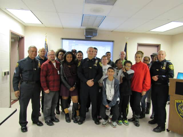 Attendees of the NRPD open house this Wednesday.