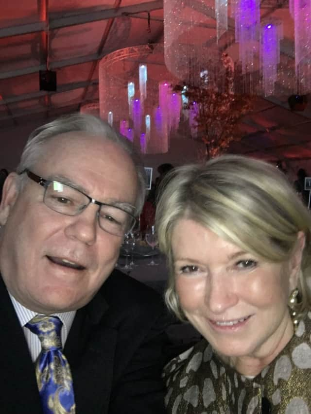 Daily Voice Founder and Chair Carll Tucker with television personality and businesswoman Martha Stewart of Katonah at the Northern Westchester Hospital Centennial Gala Saturday evening.