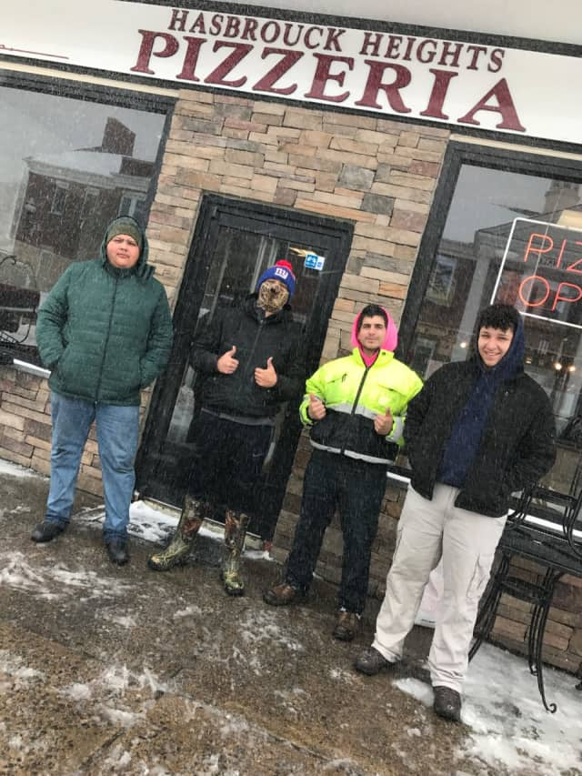 The delivery crew of Hasbrouck Heights Pizzeria