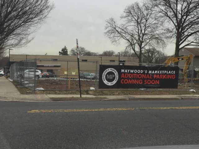 Additional parking is on its way at Maywood's Marketplace.