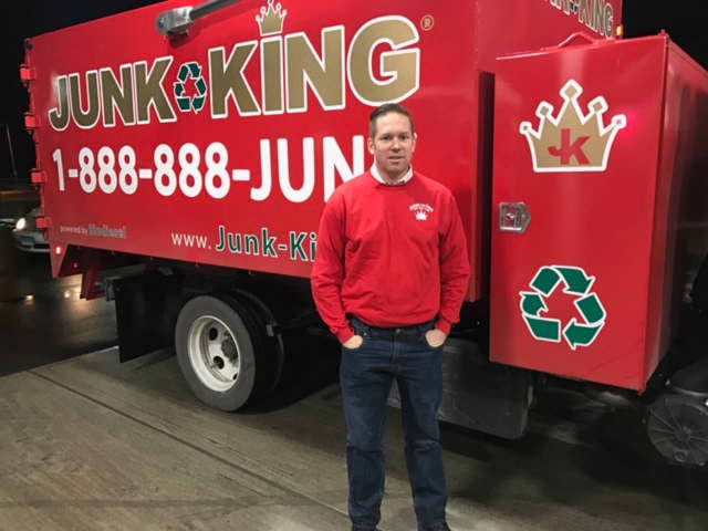 Entrepreneur Tom McCabe opened Junk King of Tri County  two months ago, challenging himself to find new homes for 65 to 75 percent of all the items his crew picks up.