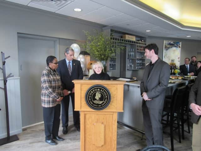 City officials and other guests were at the opening of Le Moulin Eatery in Yonkers.