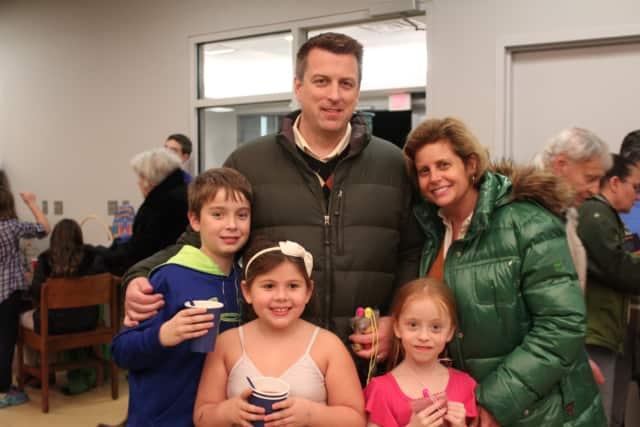 From left: Grant Lewison, David Lewison, Elizabeth Lewison and Bridget Lewison with family friend Claudia Dojknik, front.
