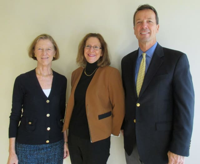 Community Planning Council Chair, Nancy Weissler; Greenwich Public Schools Superintendent, Jill Gildea; and Greenwich United Way CEO, David Rabin