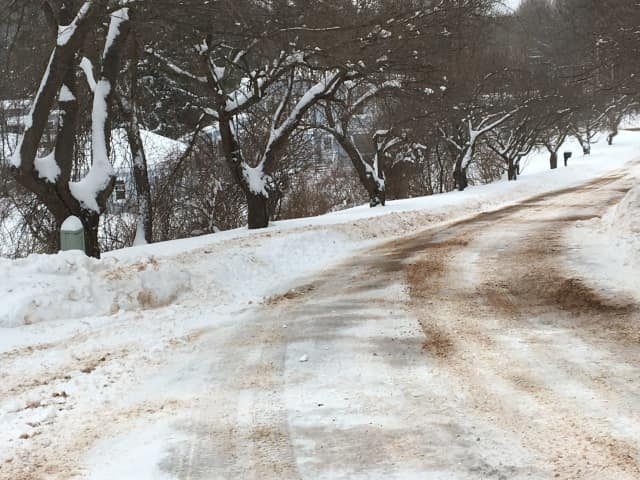 Drivers in Bergen and Passaic counties could face slick and snow-covered roads Friday.