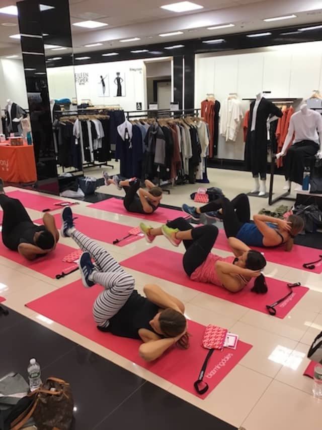 Working it with Orangetheory Fitness last Saturday at Bloomingdale's White Plains.