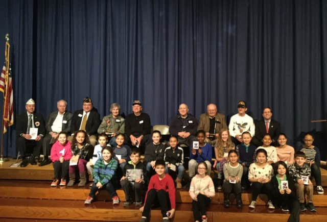 Students at George Washington Elementary School in White Plains had the opportunity to present local veterans with Valentine's Day cards.