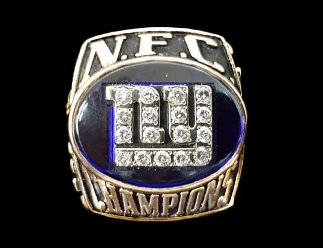A stolen New York Giants NFC championship ring was recovered by SellYourGold.com.