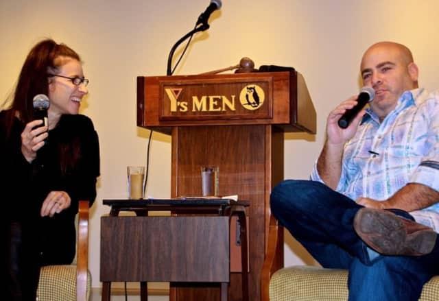 Stephanie Webster and Chef Matt Storch, speak to the Y's Men of Westport and Weston.