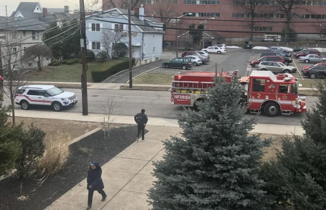 Hackensack firefighters responded to two false alarms at Hackensack High School Tuesday.