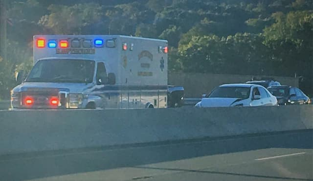 One hospitalized, Route 208 traffic jammed.