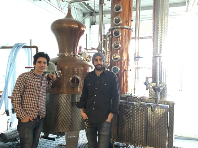 Yoni Rabino, left, and Noah Braunstein of Neversink Spirits in Port Chester.