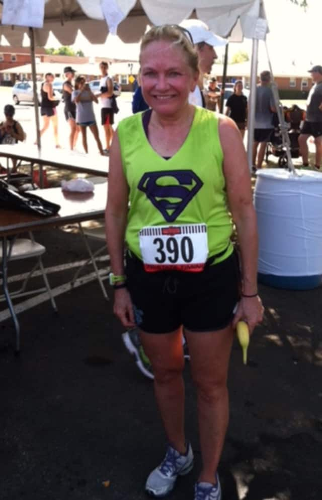 Ann O'Connell of Wyckoff after finishing the Run the Reservoir half-marathon in Hackensack in September 2014.