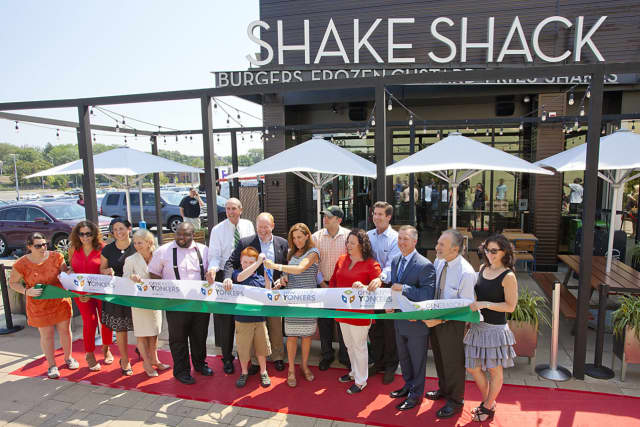 The ribbon cutting for Shake Shack in Yonkers.