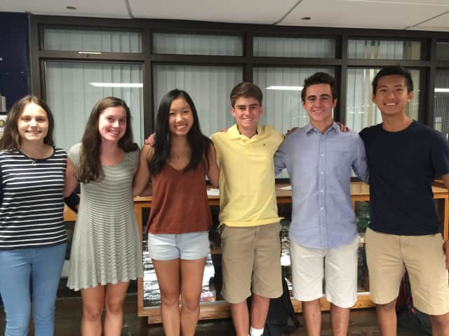 The six Wilton High seniors who have been named National Merit Semifinalists.