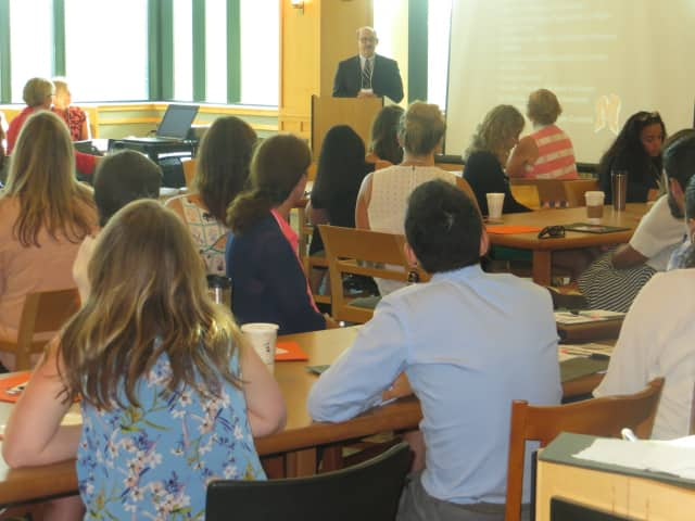 New teachers were welcomed by Mamaroneck Schools Superintendent Robert Shaps. The school district was ranked 62nd in a recent ranking of best school teachers.