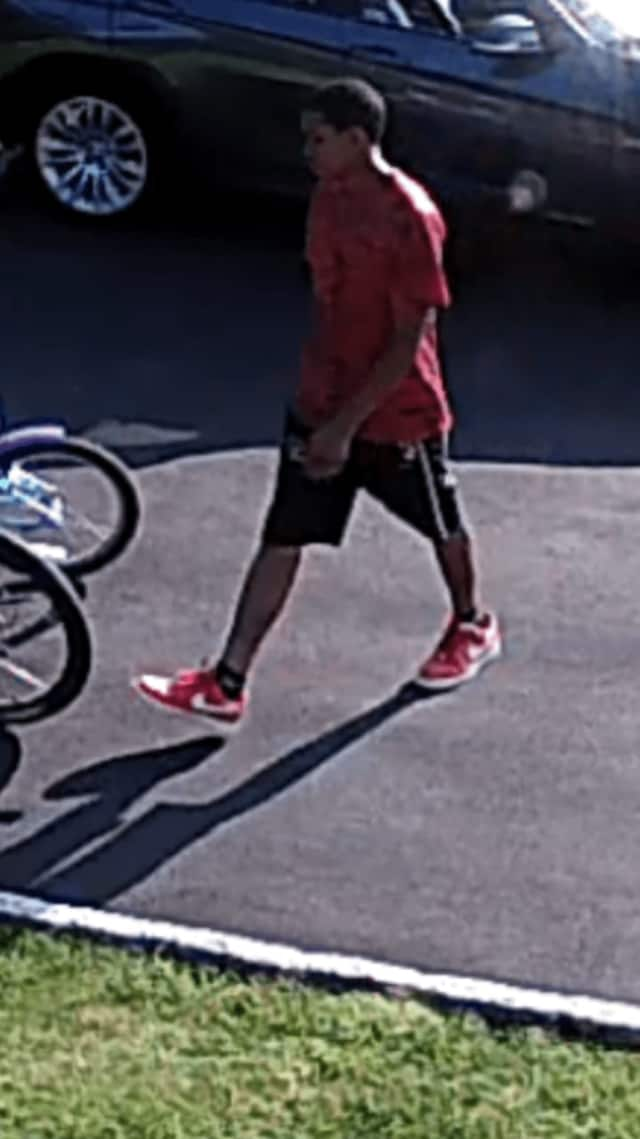 Greenburgh police released this photo on Friday after a homeowner reported his son's Fuji Nevada bicycle was stolen. The above suspect reportedly left a purple bike on the property, police said.