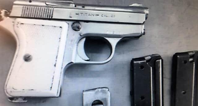 The .25-caliber semi-automatic pistol.