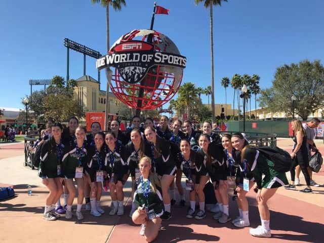 The Yorktown High School cheerleaders
