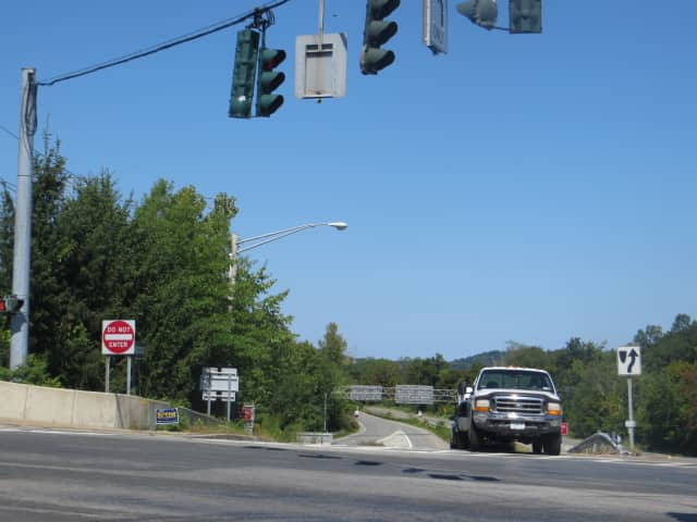 State Route 9A at Route 117 in Mount Pleasant. A new survey reported that Route 9A was the most dangerous road for pedestrians to cross. Three of Westchester County's 25 pedestrian fatalities in 2012-2014 were on different stretches of Route 9A.