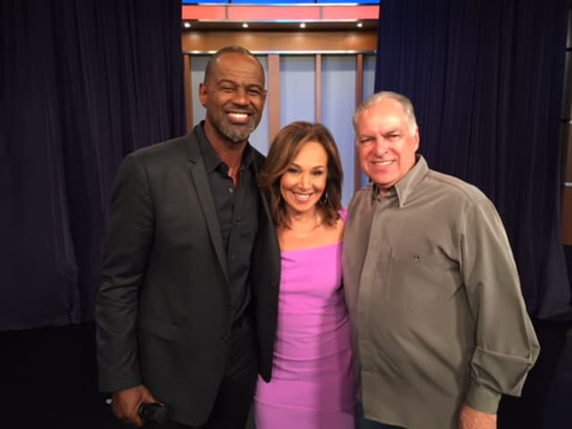 Brian McKnight, Rosanna Scotto and Jerry Lembo on Good Day New York Monday.
