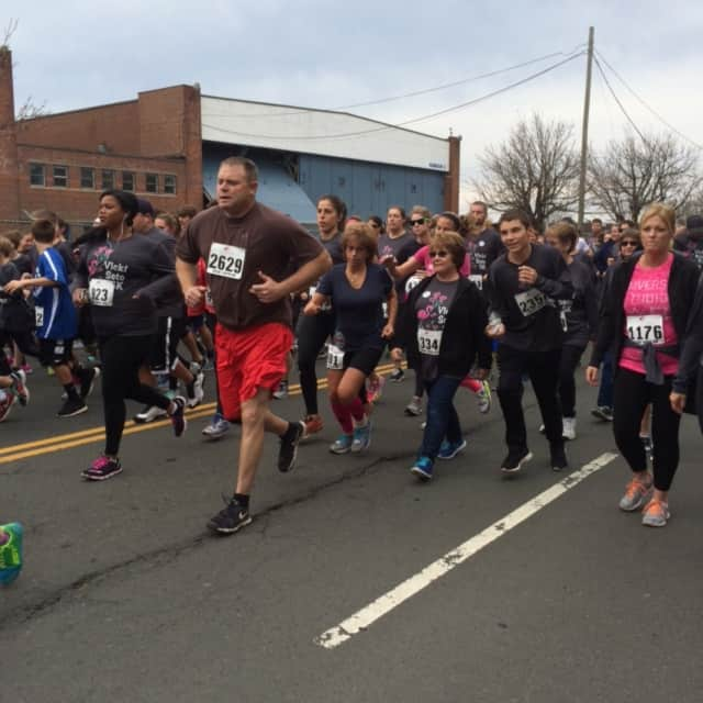 Runners in the third annual Vicki Soto 5K
