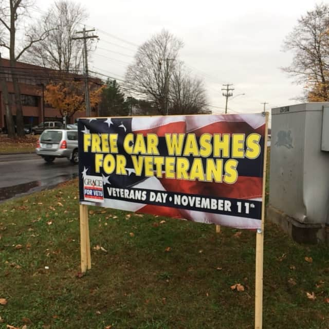 Free car washes for veterans and service personnel are offered at Splash in Shelton.