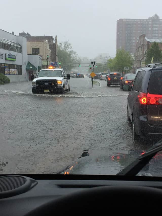 River Road in Edgewater flooded Friday.