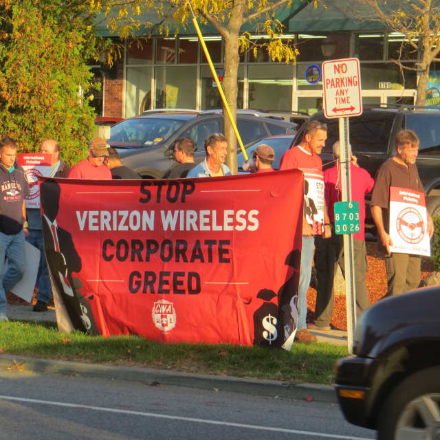 More than a dozen members of the Communications Workers of America union picketed the Verizon store along Route 6 in Mohegan Lake in October to inform the public they have been working without a labor contract since Aug. 2. A strike looms Wednesday.