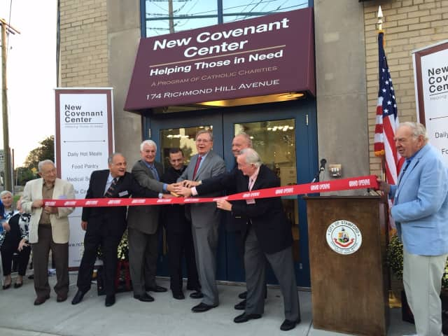 New Covenant Center, Stamford's soup kitchen serving lower Fairfield County, recently had a grand opening for its location at 174 Richmond Hill Ave.