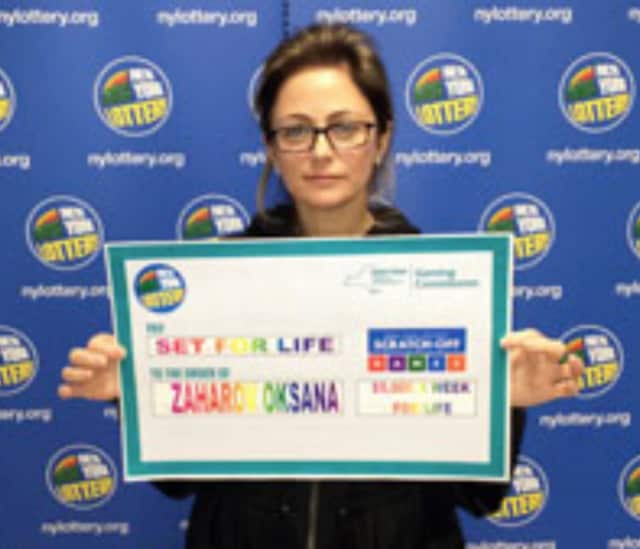 Oksana Zaharov of Edgwater won $5 million.