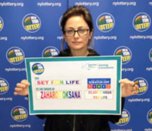 Oksana Zaharov of Edgwater won $5 million.